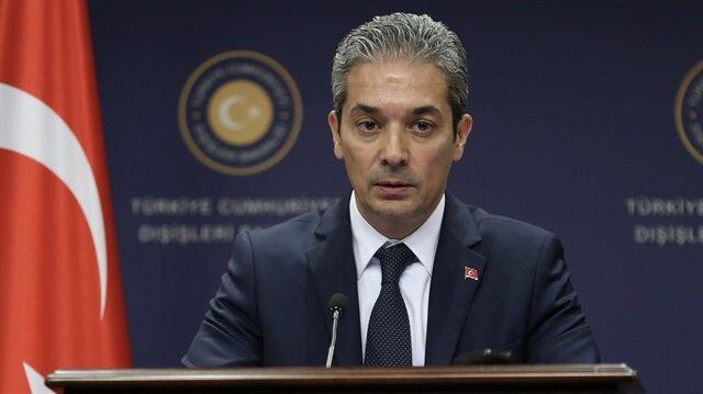Dışişleri Bakanlığı Hami Aksoy, ABD'nin FKÖ kararına ilişkin açıklamalarda bulundu.