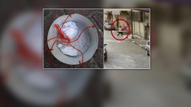 İstanbul'da damdan sarkıtılan sepetle uyuşturucu servisi yapan şüpheliler polislerce yakalandı.
