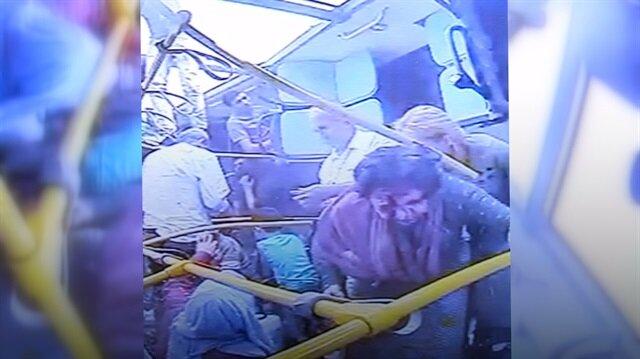 Manisa'da yürekleri ağza getiren korkunç kaza anı