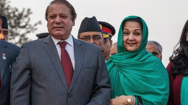 Pakistan'ın eski Başbakanı Navaz Şerif ve eşi Begüm Gülsüm Navaz