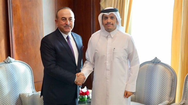 Dışişleri Bakanı Mevlüt Çavuşoğlu ve Katar Dışişleri Bakanı Muhammed bin Abdurrahman Al Sani