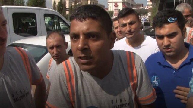 Aylardır maaşlarını alamayan işçiler Şişli Belediyesi önünde eylem yaptı