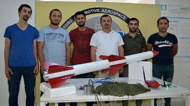 """Karabük Üniversitesi (KBÜ) Roket Takımı tarafından tasarlanan rokete """"Temren"""" adı verildi."""