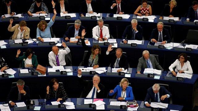 Avrupa Parlamentosu'nda Macaristan için cezalandırıcı prosedürü yürürlüğe koyma kararı oylaması yapıldı. (Fotoğraf: Reuters)