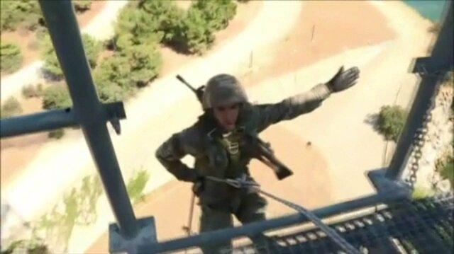 Komandolardan nefes kesen kule eğitimi