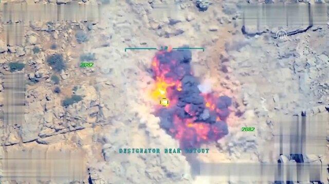 Terörist gösterdi Türk F-16lar vurdu