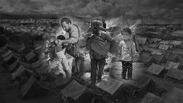 Suriye'de 2011 yılından beri devam eden iç savaşta 500 binden fazla insan hayatını kaybetti, milyonlarca insan mülteci olarak başka ülkelere sığındı.