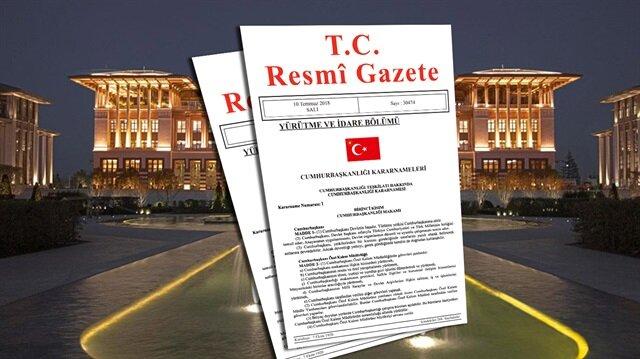 Cumhurbaşkanlığı kararnamesi Resmi Gazete'de