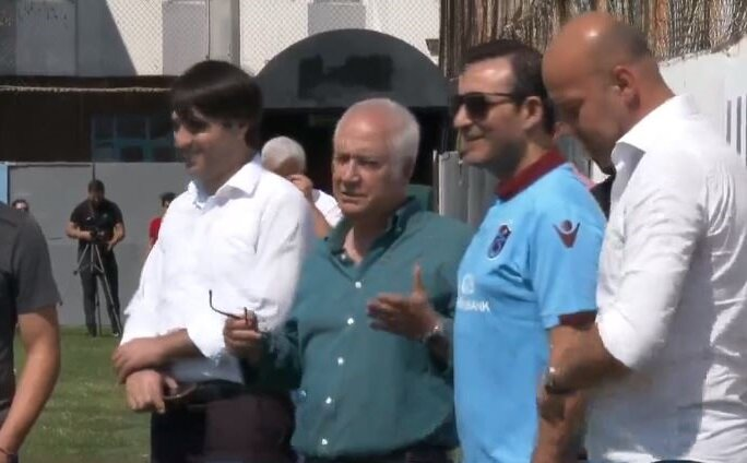 Rafet El Roman, Trabzonspor antrenmanını takip etti.