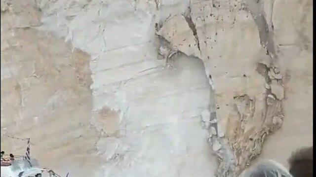 Dünyaca ünlü plaj çöktü!