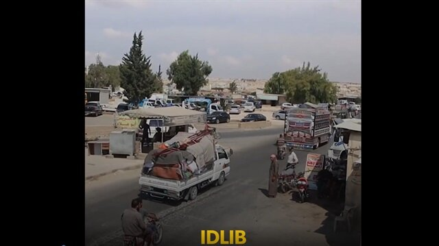 Idlib locals flee to Turkish-controlled areas for safety