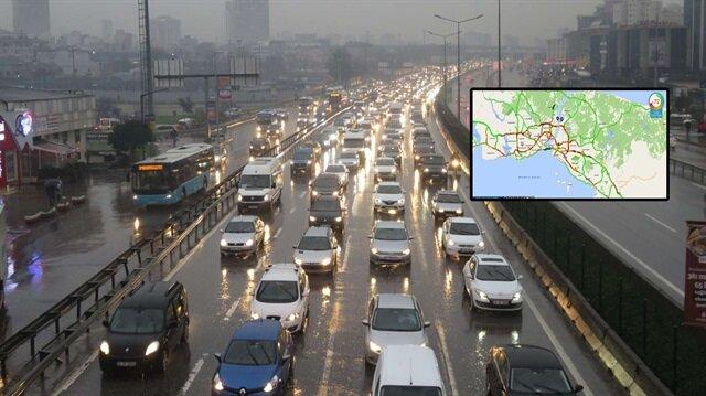 İstanbul'da trafik yoğunluğu yaşanıyor