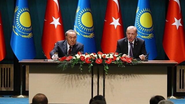 Başkan Erdoğan ile Kazakistan Cumhurbaşkanı Nazarbayev ortak basın toplantısı düzenledi.