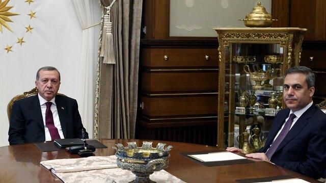 Başkan Erdoğan MİT Başkanı Fidan'ı kabul etti