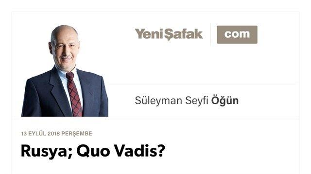 Rusya; Quo Vadis?