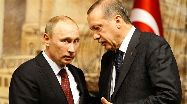 Cumhurbaşkanı Erdoğan ve Rusya  Devlet Başkanı Putin.