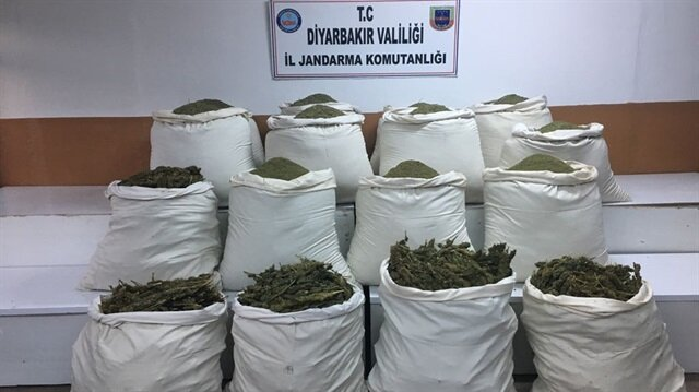 Turkish security forces seized more than 7.2 tons of marijuana in Diyarbakır
