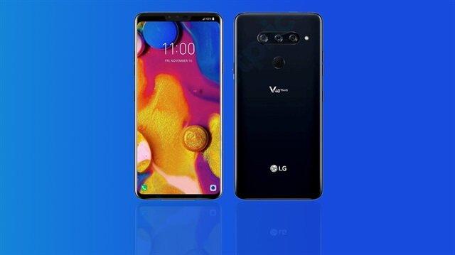 Üç kameralı LG V40 ThinQ modeline ait olduğu düşünülen sızıntı görsel.