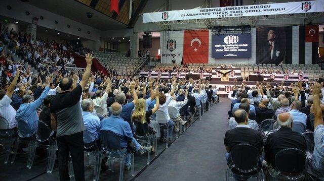 Beşiktaş Kulübünün olağanüstü tüzük değişikliği genel kurulu sona erdi.