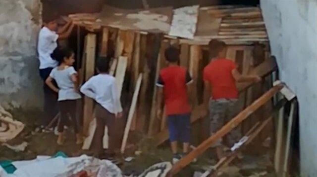 Çocuklardan duyarlılık örneği: Yoksullar için ev yaptılar