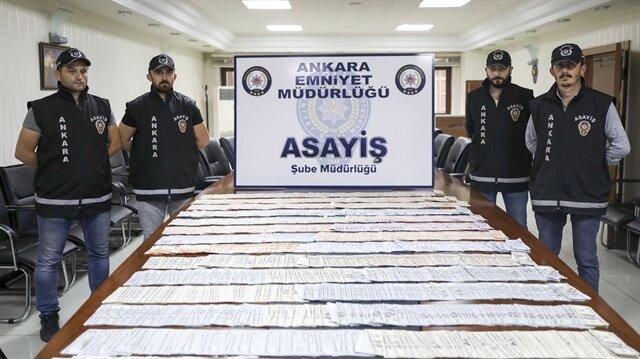 Polis, 1 milyon lira değerinde para ve ziynet eşyası ele geçirdi.