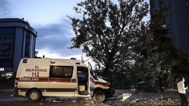 Şişli'de ambulans kaza yaptı