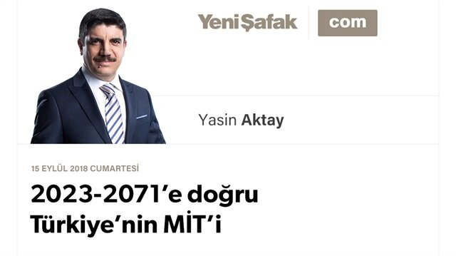 2023-2071'e doğru Türkiye'nin MİT'i