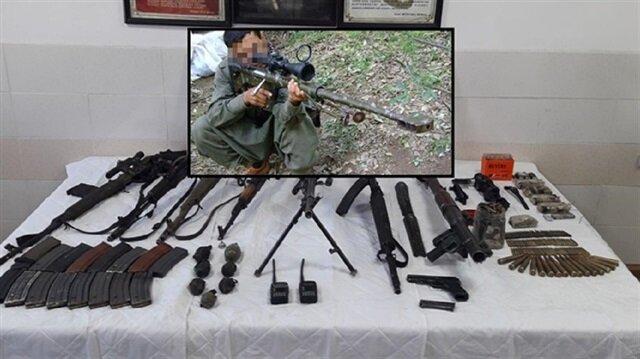 Hakkari'de teröristlere ait silahlar ele geçirildi