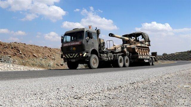 Askeri araçlar, daha sonra Suriye sınır hattına sevk edildi. Fotoğraf: Arşiv