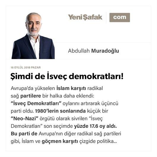 Şimdi de İsveç demokratları!