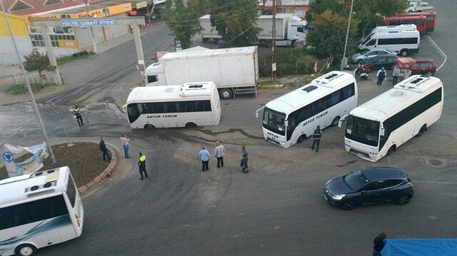 Tekirdağ'da<br> yol çöktü