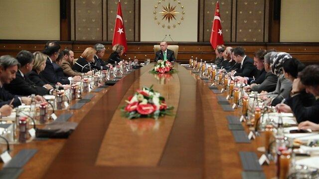 Başkan Erdoğan ABD'li şirket temsilcilerini kabul etti