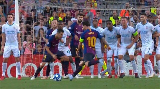 Gecenin golü Lionel Messi'den: Frikikten avladı