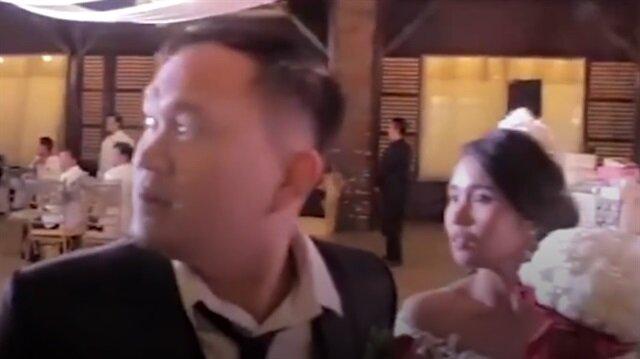 Düğün günü bir anda kabusa döndü