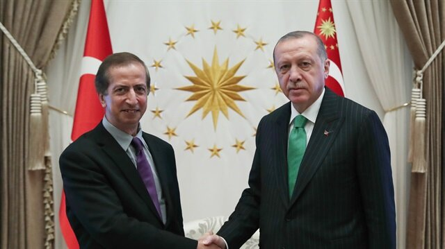 أردوغان يستقبل البروفسور ياسر أبو مصطفى