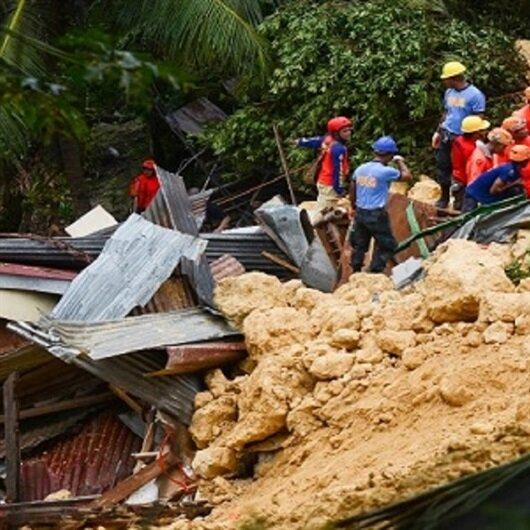 مصرع 22 إثر الانهيارات الأرضية بالفلبين