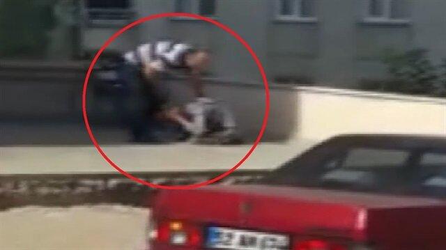 Kan donduran görüntü: Babadan engelli oğluna şiddet!