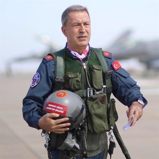 F-16'yla geldi