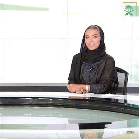 Suudi Arabistan'ın ilk kadın spikeri