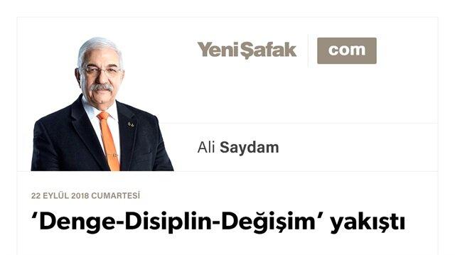 'Denge-Disiplin- Değişim' yakıştı