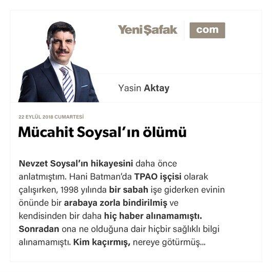 Mücahit Soysal'ın ölümü