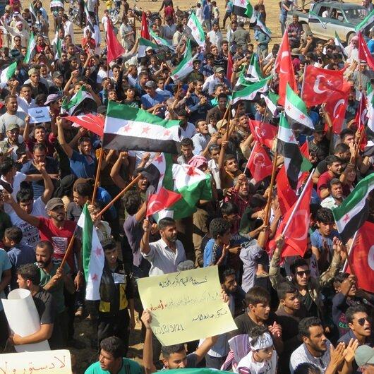 İdlib'de Türkiye'ye teşekkür gösterisi