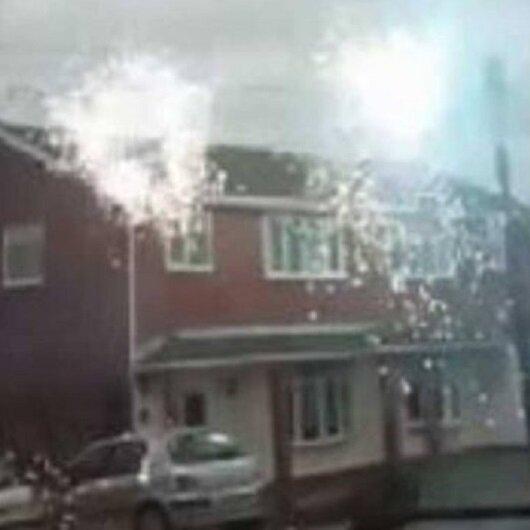 أسلاك الكهرباء تتحول لألعاب نارية.. وفيديو يوثق الحادث
