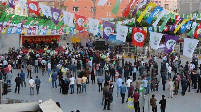 HDP'nin mitinge düşük katılım dikkat çekti.