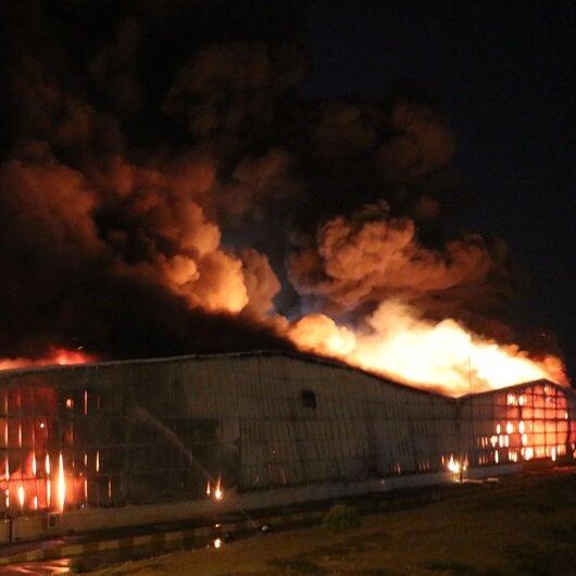 Aydın'da fabrika yangını güçlükle söndürüldü