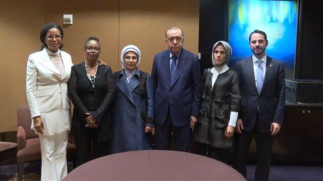Başkan Erdoğan Malcolm X'in kızlarını kabul etti
