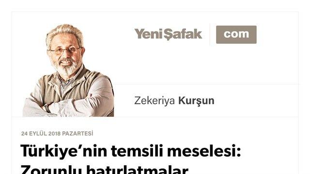 Türkiye'nin temsili meselesi: Zorunlu hatırlatmalar