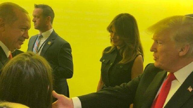 Cumhurbaşkanı Erdoğan Trump ile görüştü