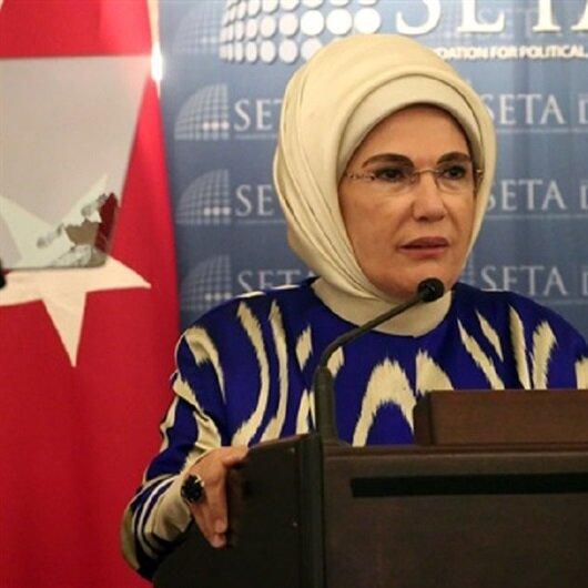 أمينة أردوغان تشيد بدور بلادها بمجال المساعدات الإنسانية
