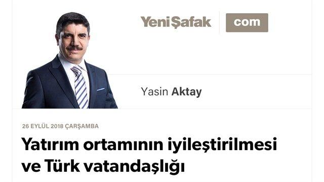 Yatırım ortamının iyileştirilmesi ve Türk vatandaşlığı